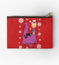 Dino from The Flintstones in Christmas mood Zipper Pouch