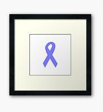 Light Blue Ribbon Framed Print