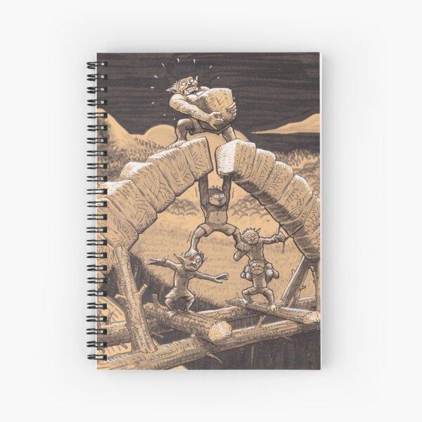 orks building a bridge Spiral Notebook
