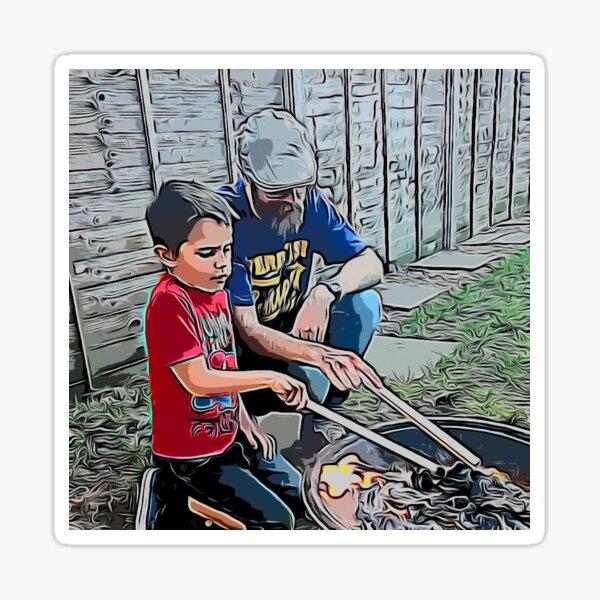 Father & Son Sticker
