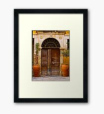 Doors - Chania - Crete - Greece. by Brown Sugar . F* . Views  1446.  This image Has Been S O L D . Framed Print
