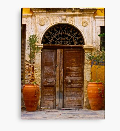 Doors - Chania - Crete - Greece. by Brown Sugar . F* . Views  1446.  This image Has Been S O L D . Canvas Print
