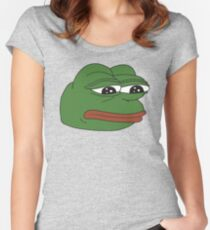 Pepe the frog - Sad frog Women's Fitted Scoop T-Shirt