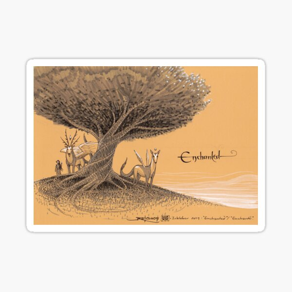 Ancient spirits tree Sticker