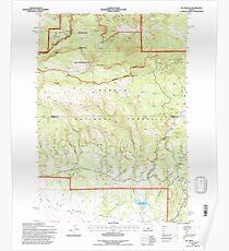 USGS Topo Map Oregon Mt Pisgah 280873 1992 24000 Poster