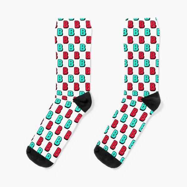 B Pattern Socks
