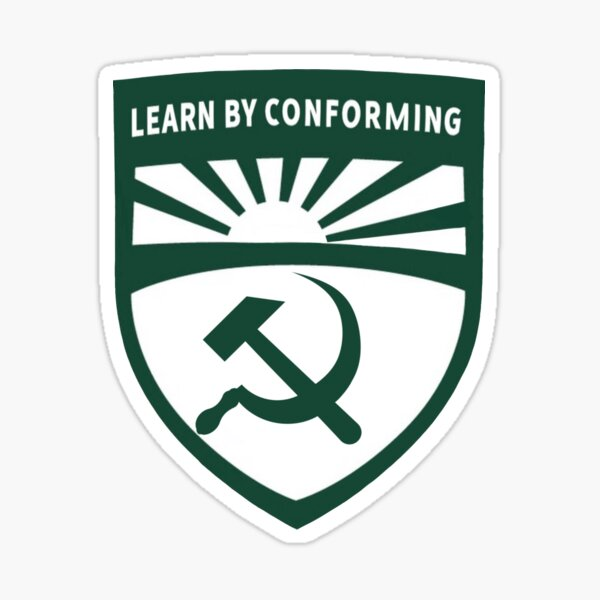 """""""Learn by conforming"""" c a l p o l y new logo redesign Sticker"""