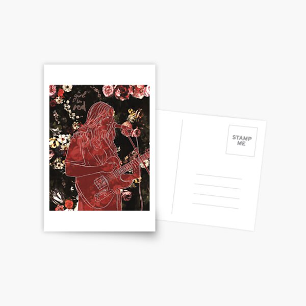 Girl in Red Postcard