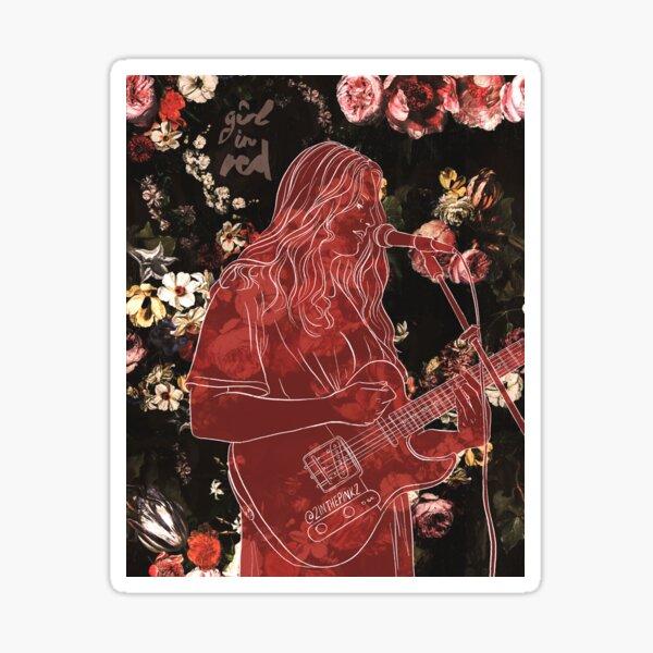 Girl in Red Sticker