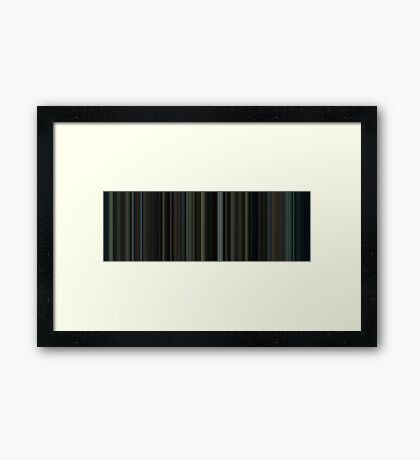 Moviebarcode: Fight Club (1999) [Simplified Colors] Framed Print