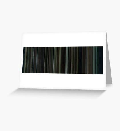 Moviebarcode: Fight Club (1999) [Simplified Colors] Greeting Card