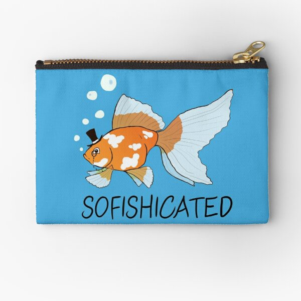 What a Sophisticated Fish! Zipper Pouch