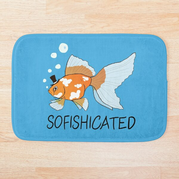 What a Sophisticated Fish! Bath Mat