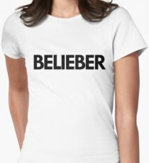 BELIEBER Womens Fitted T-Shirt