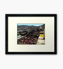 Tannery - Fez, Morocco Framed Print