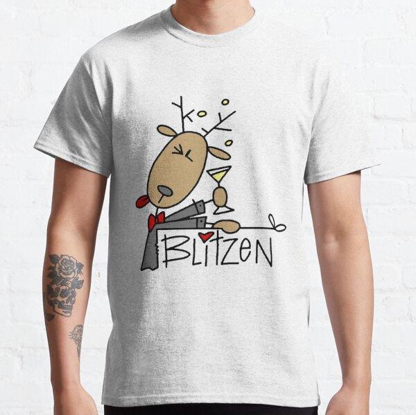 Blitzen Reindeer Christmas Holiday Classic T-Shirt