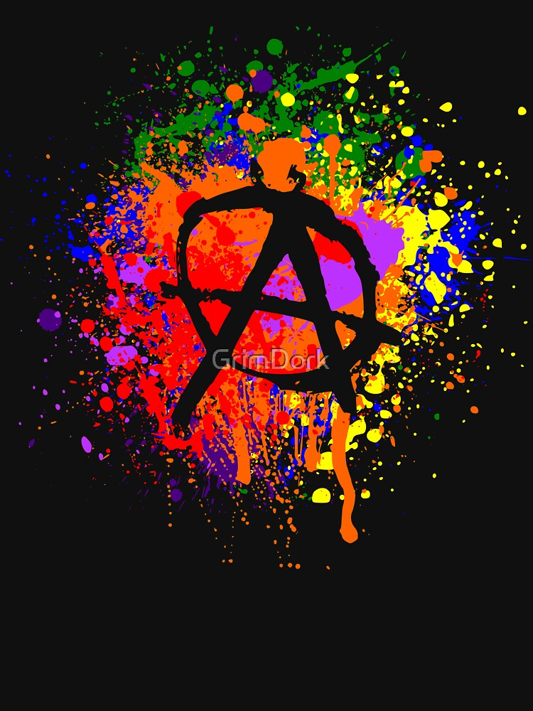 Anarchy Paint Splatter by GrimDork