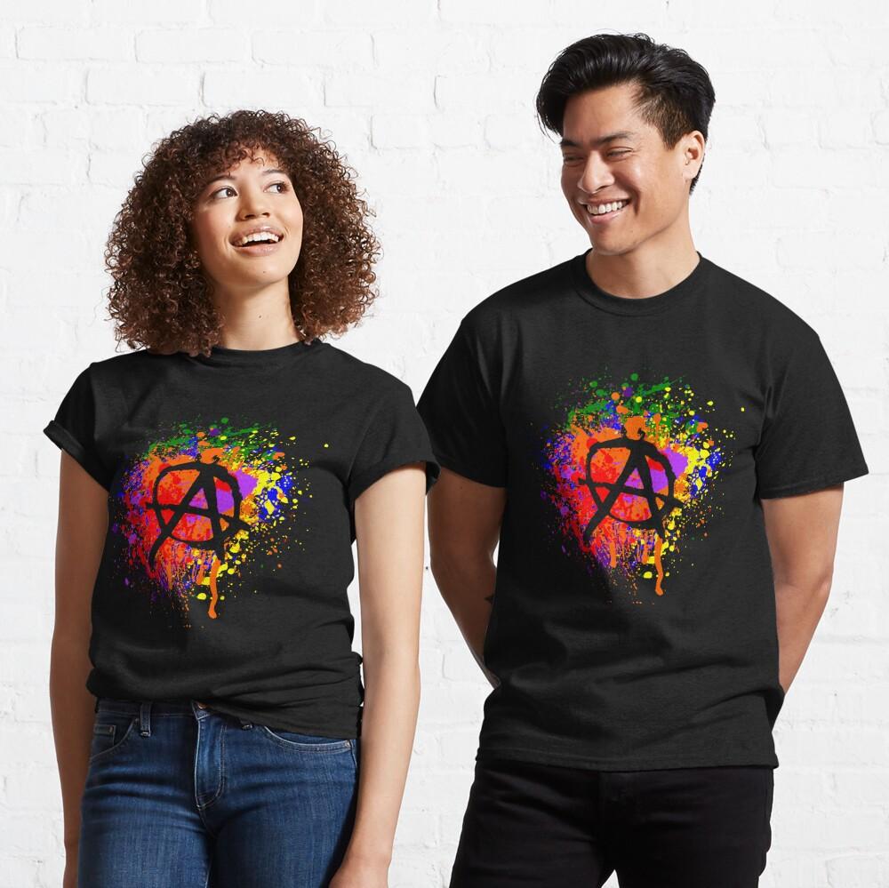 Anarchy Paint Splatter Classic T-Shirt