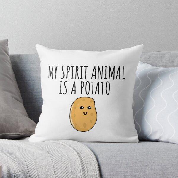 My Spirit Animal Is A Potato Throw Pillow