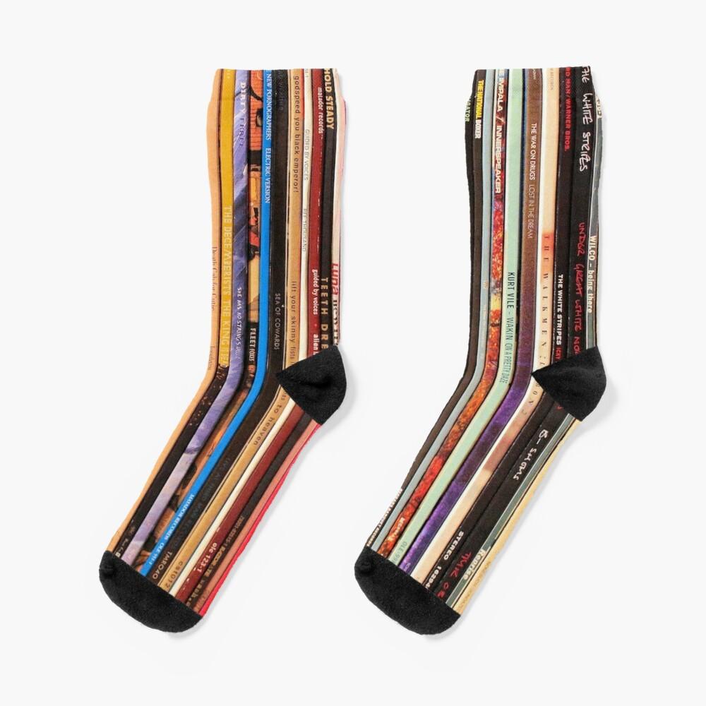 Indie Rock Vinyl Records Socks