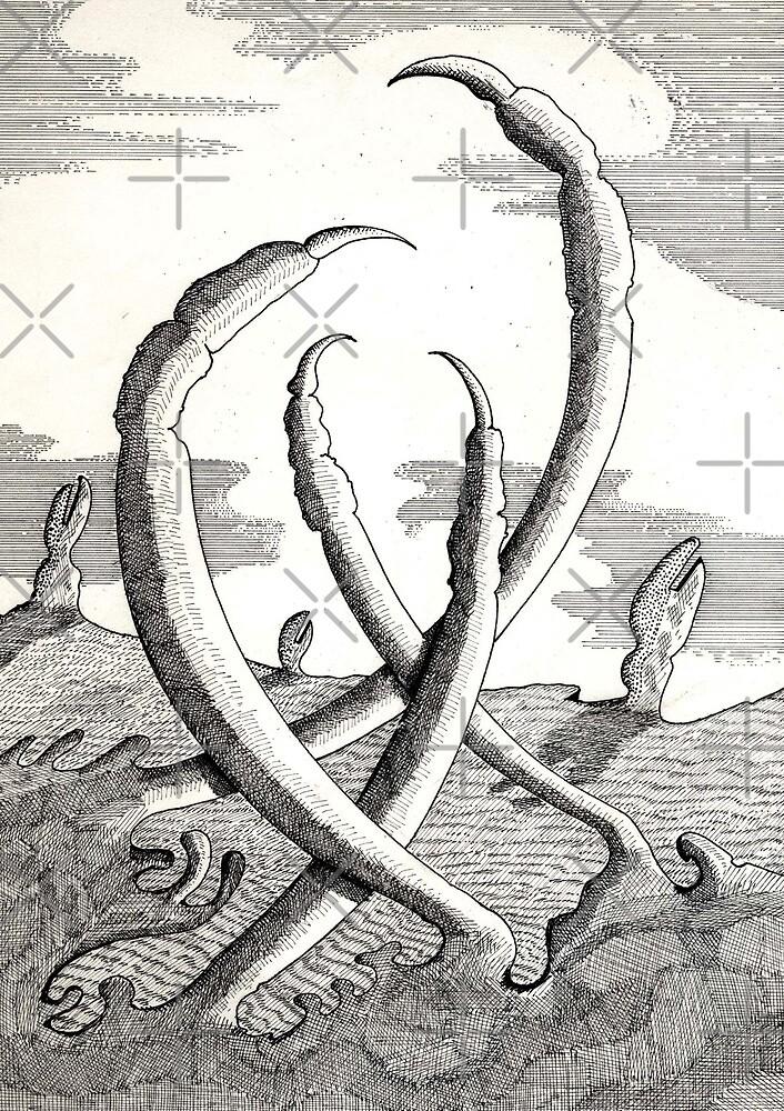 161 - CLAWS VEGETATION - DAVE EDWARDS - INK - 1988 by BLYTHART