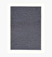 """Dictionary 20"" (evaporator-fancy man) Art Print"