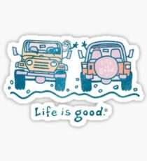 Life is Good Jeep Sticker