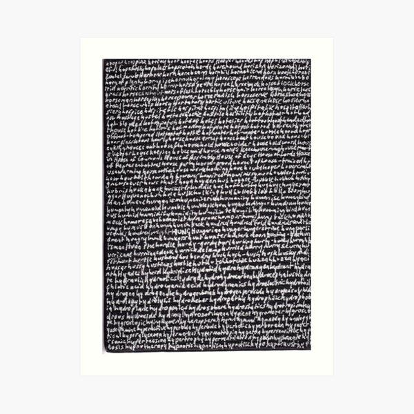"""Dictionary 29"" (hoopla-hypocaust) Art Print"