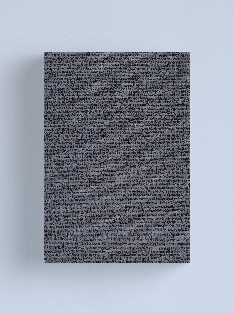 """Alternate view of """"Dictionary 31"""" (inadvertent-insatiable) Canvas Print"""