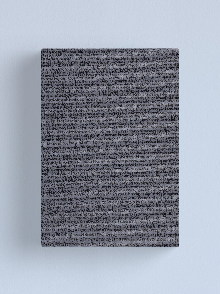 """Alternate view of """"Dictionary 32"""" (inscribe-island) Canvas Print"""