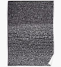 """Dictionary 34"" (kidney stone-latitudinarian) Poster"