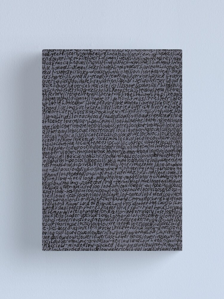 """Alternate view of """"Dictionary 36"""" (limpet-loyal toast) Canvas Print"""
