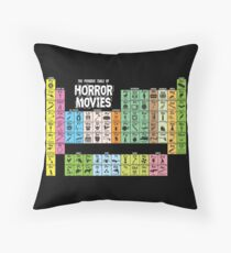 Periodic Table of Horror Movies Throw Pillow