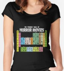 Periodic Table of Horror Movies Fitted Scoop T-Shirt
