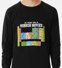 Periodic Table of Horror Movies Lightweight Sweatshirt