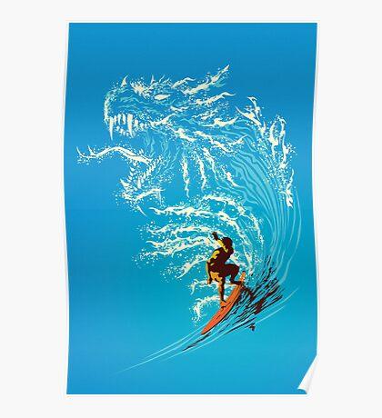 Blue Dragon Poster