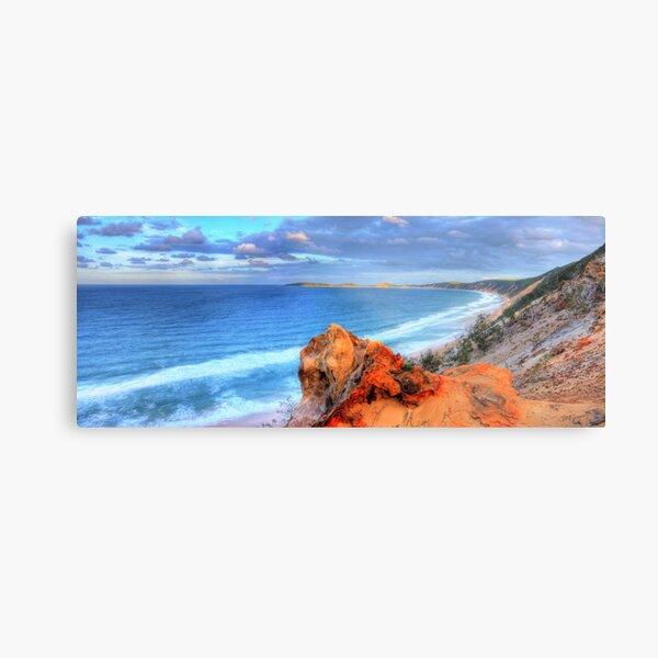Rainbow Beach - Double Island Point Metal Print