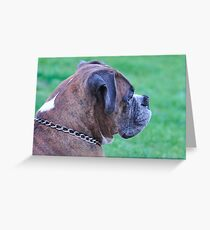 Profile of Tyson Greeting Card