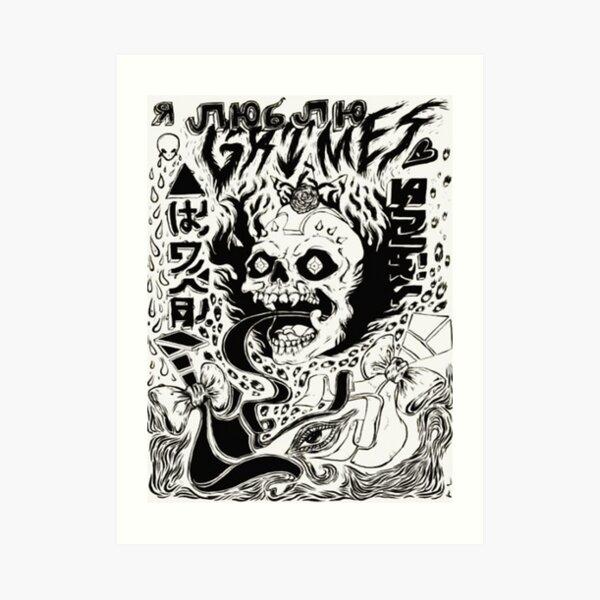 Grimez Doodlez Art Print