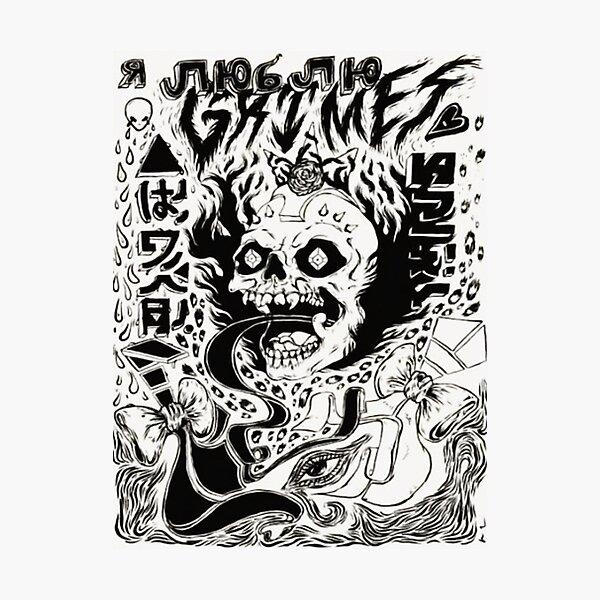 Grimez Doodlez Photographic Print