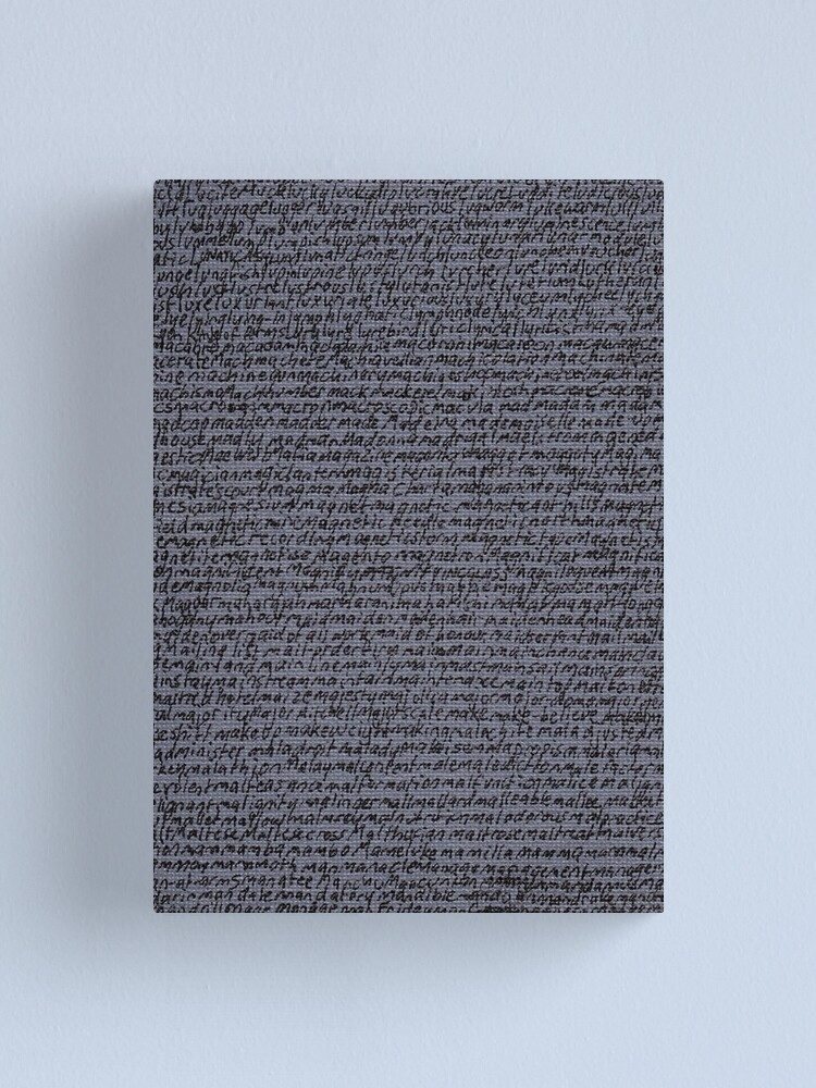 "Alternate view of ""Dictionary 37""(loyalty-mange) Canvas Print"