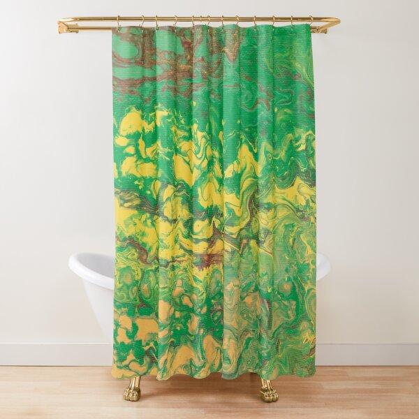 The Garden Grows: Sun & Soil Acrylic Pour Shower Curtain
