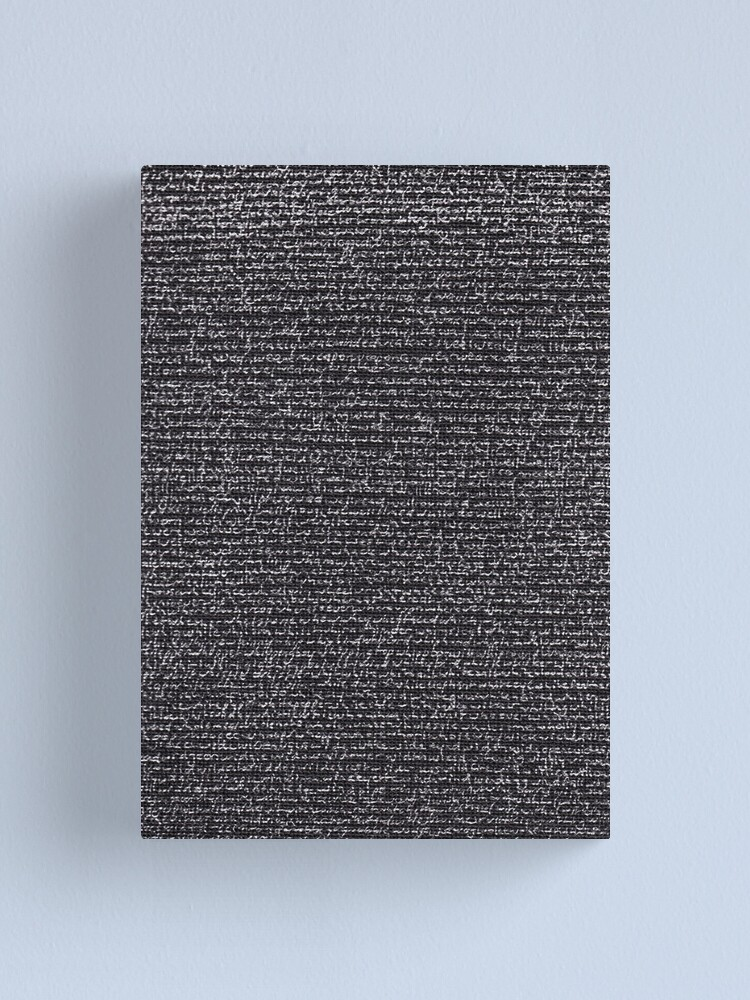 """Alternate view of """"Dictionary 68"""" (washerwoman-wood) Canvas Print"""
