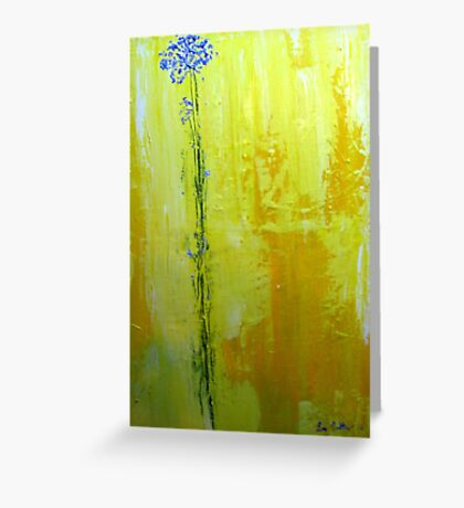 alone with my thoughts Greeting Card
