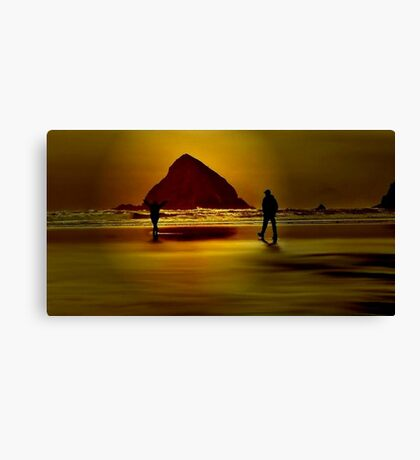 GOLD BEACH.....Having Fun~ Canvas Print