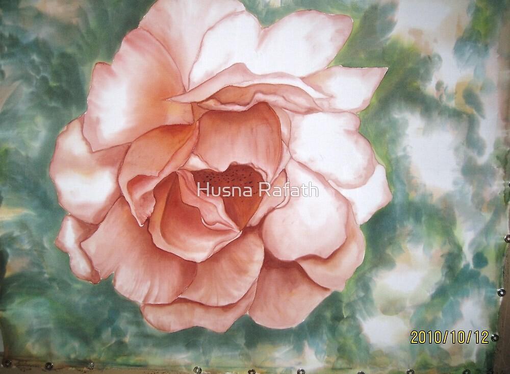 Sun-lit rose by Husna Rafath