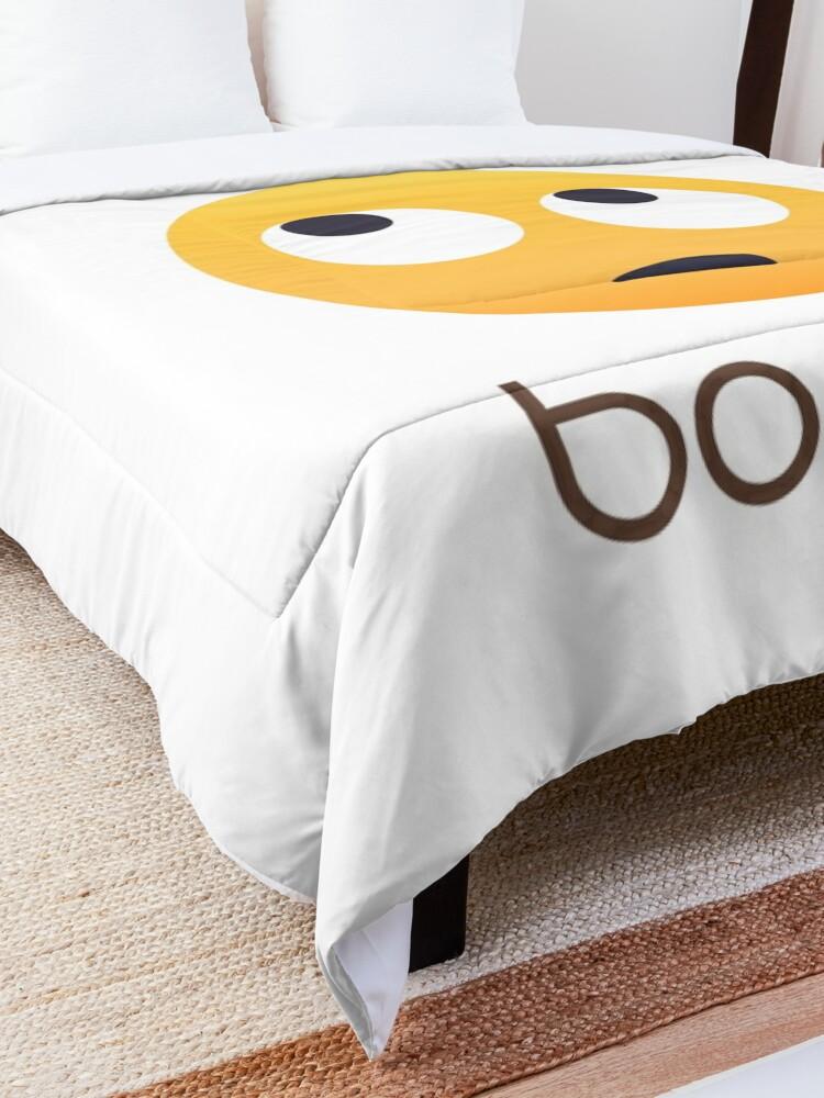 Alternate view of Okay Boomer Rolling Eye Emoji Comforter