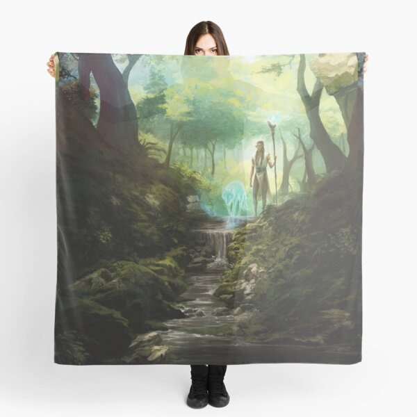 Beyond the Veil Forest Scarf