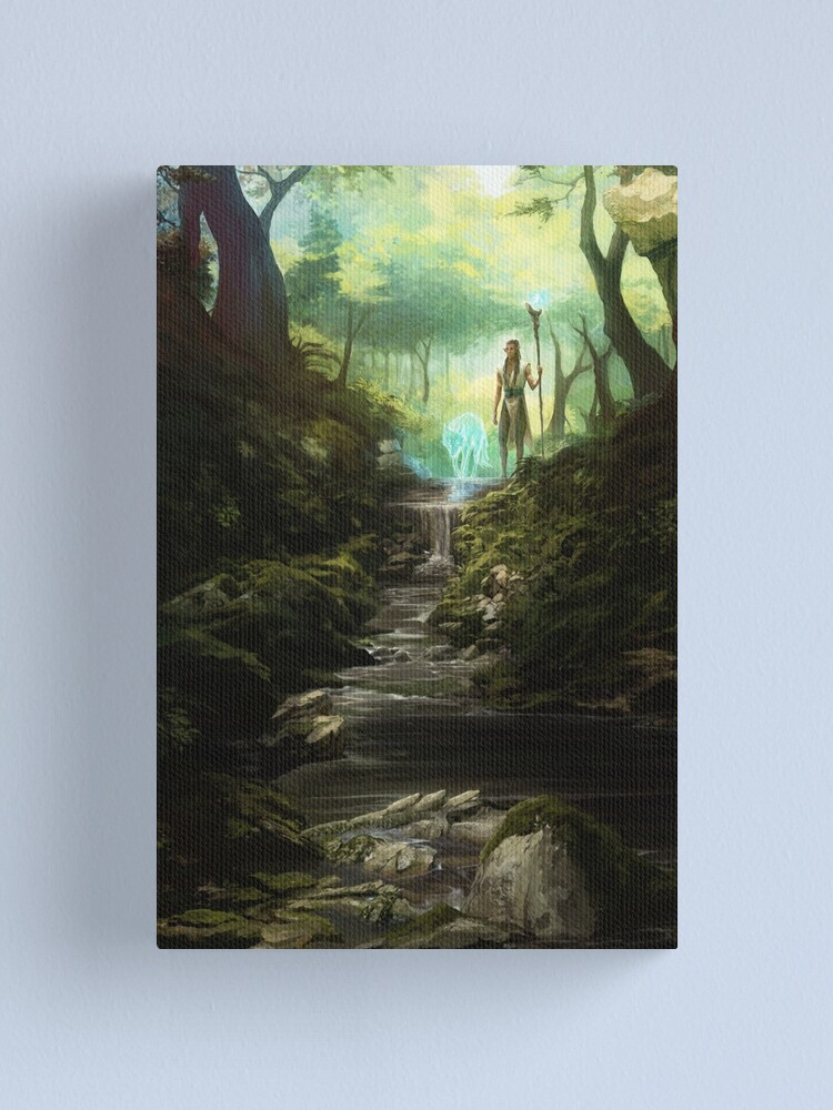 Alternate view of Beyond the Veil Forest Canvas Print