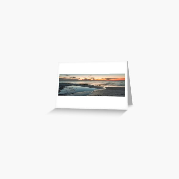 Sun Fades over Port Phillip - Panograph Greeting Card
